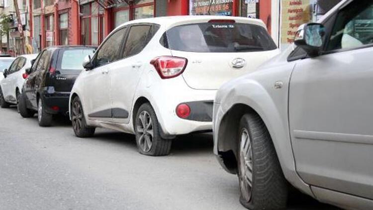 Şişli'de 4 günde 39 aracın lastikleri kesildi, 3 araç kundaklandı