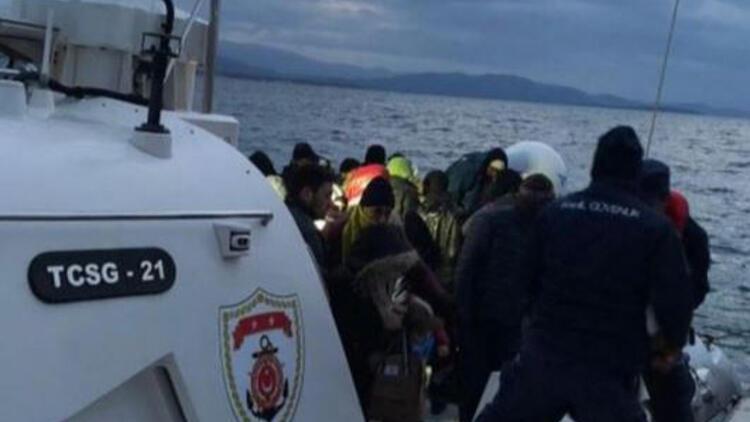 Didim açıklarında 129 kaçak göçmen yakalandı