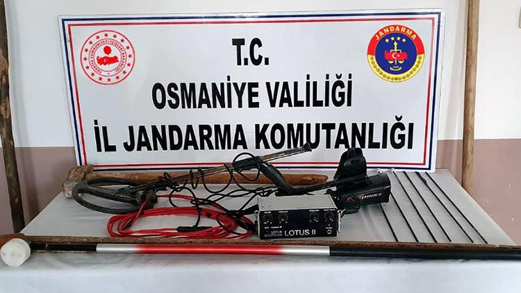 Osmaniye'de kaçak kazı yapan 4 kişi yakalandı