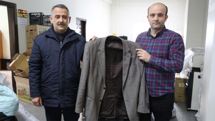 Yardım kampanyası için gönderilen ceketten 10 bin lira çıktı