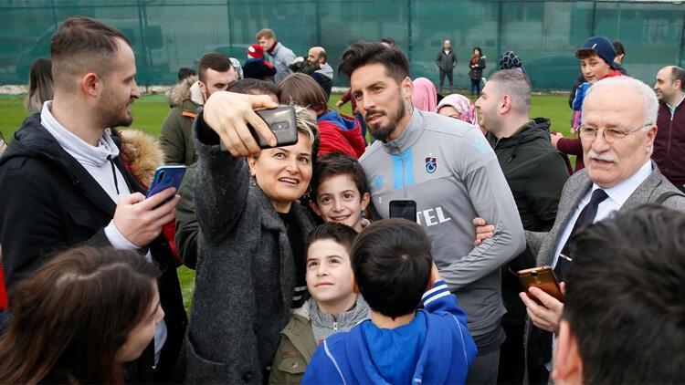 Trabzonspor antrenmanında özel misafirler