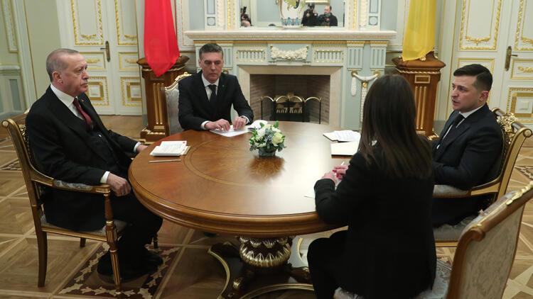 Erdoğan, Ukrayna Devlet Başkanı Zelenski ile görüştü