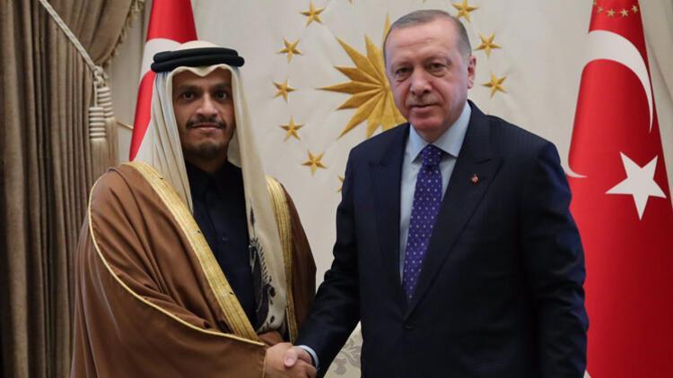 Cumhurbaşkanı Erdoğan, Al Thani'yi ağırladı