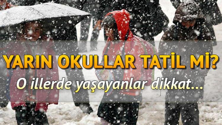 Bugün okullar nerelerde tatil? 5 Şubat Çarşamba günü Erzincan, Van, Bingöl'de okullar tatil mi?