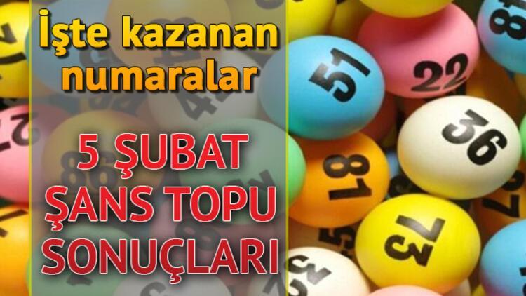 Şans Topu sonuçları açıklandı, 222 bin 4'e bölündü! 5 Şubat Şans Topu sonuç sorgulama