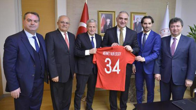 TFF heyetinden Kültür ve Turizm Bakanı Mehmet Nuri Ersoya ziyaret