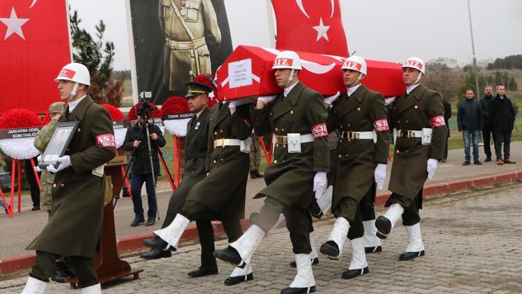 Suriye'de kazada şehit olan Uzman Onbaşı Ceyhun Taş, memleketine uğurlandı