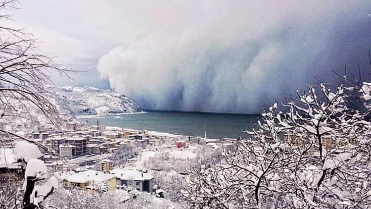 Kar fırtınası böyle vurdu