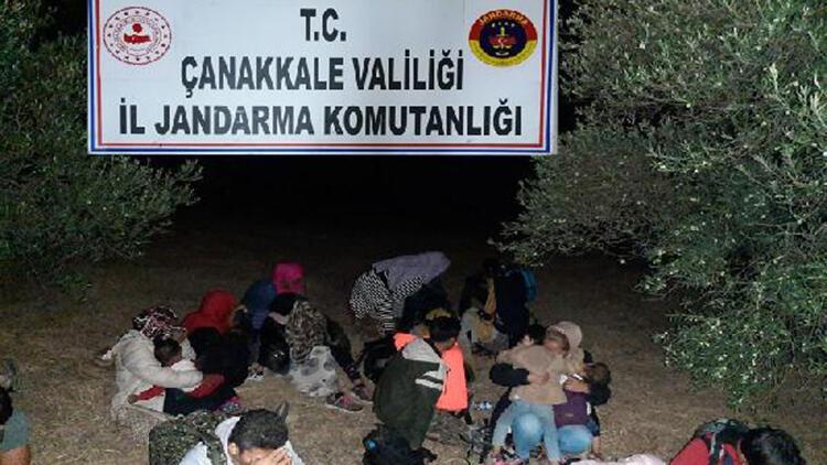 Çanakkale'de 73 kaçak göçmen yakalandı