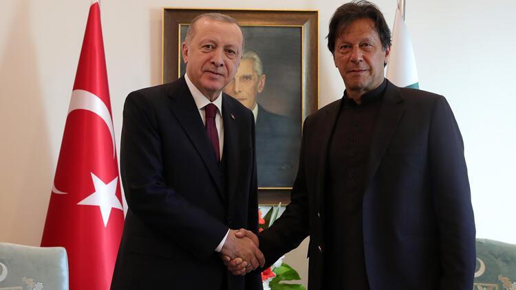 Cumhurbaşkanı Erdoğan, Pakistan Başbakanı Khan ile görüştü