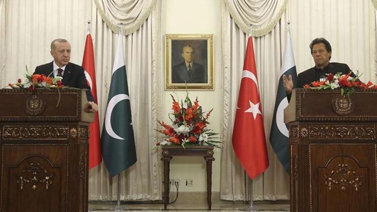Cumhurbaşkanı Erdoğan, İmran Han ile ortak basın toplantısı düzenledi