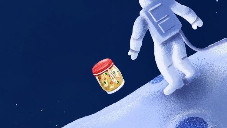 Kereviz yemeği, Ay ve Zıpzıplar
