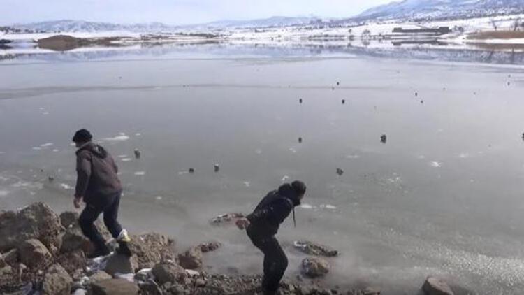 Batman'da Kırkat Gölü dondu