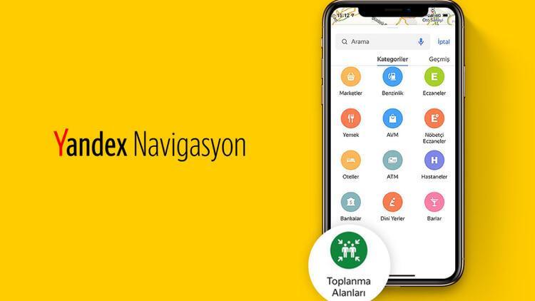 Yandex Navigasyon, afet toplanma yerlerini de gösterecek
