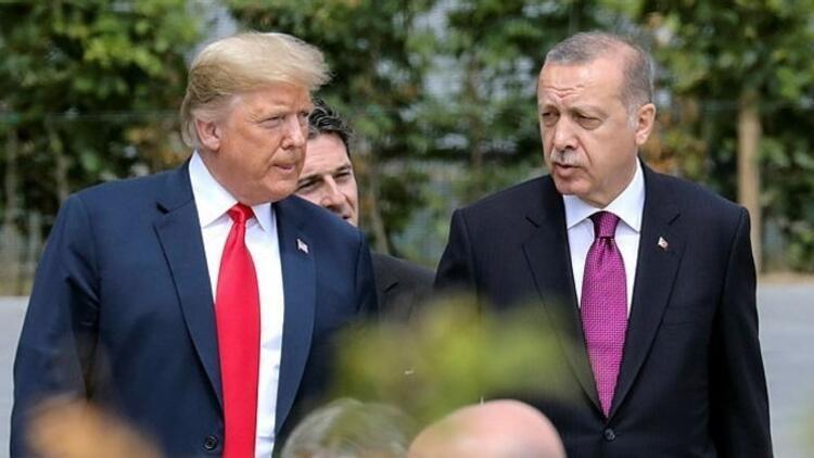 Son dakika... Cumhurbaşkanı Erdoğan ile Donald Trump görüştü
