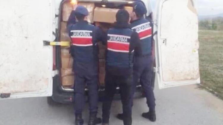 Kocaeli'de 5 ton 700 kilo kaçak tütün ele geçirildi