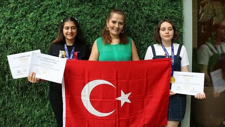 Endonezya'daki bilim yarışmasından 2 altın madalyayla döndüler