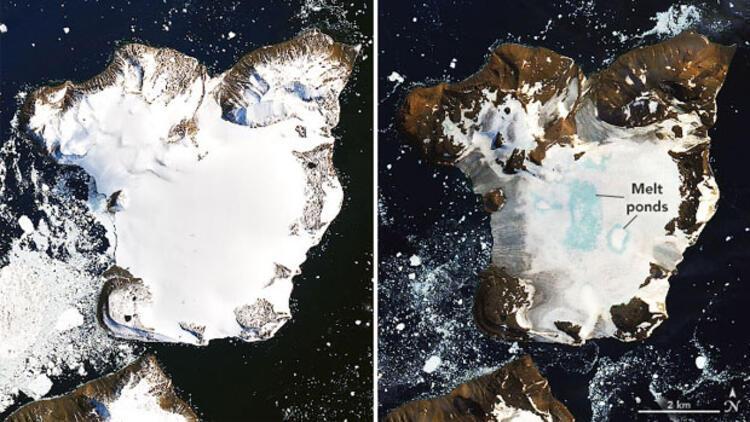 Antarktika'daki buzulların erime seviyesi alarm veriyor