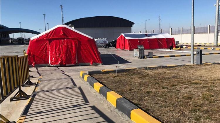Dilucu Sınır Kapısı'na sahra hastanesi kuruldu