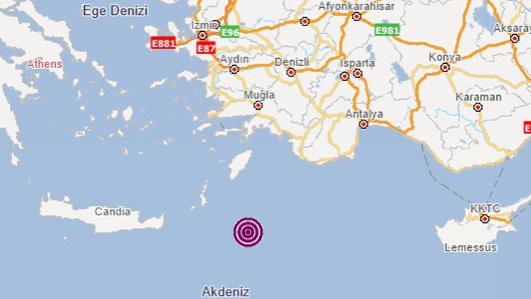 Son dakika haberler: Akdeniz'de 4.3 büyüklüğünde deprem