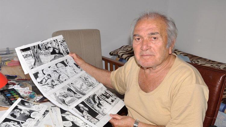 Çizgi romanın usta ismi Abdullah Turhan, son yolculuğuna uğurlandı