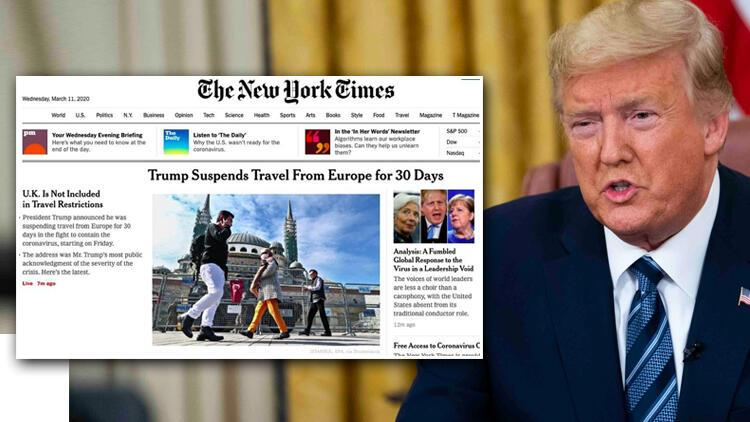 Son dakika haberi: ABD Başkanı Trump corona virüs önlemlerini duyurmuştu... Türkiye fotoğrafıyla servis ettiler!