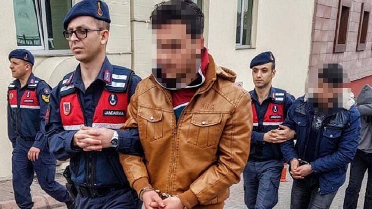Kayseri'de, 5 HTŞ şüphelisi adliyede