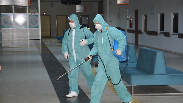 Silopi'de koronavirüse karşı dezenfeksiyon