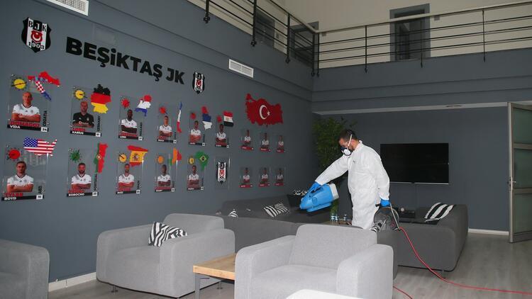 Beşiktaş Nevzat Demir Tesisleri'nde corona virüs temizliği