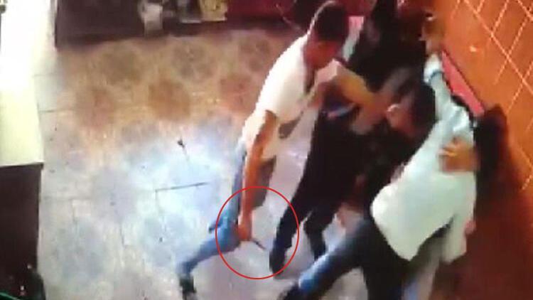 Bir kişinin öldüğü kavga anı kamerada