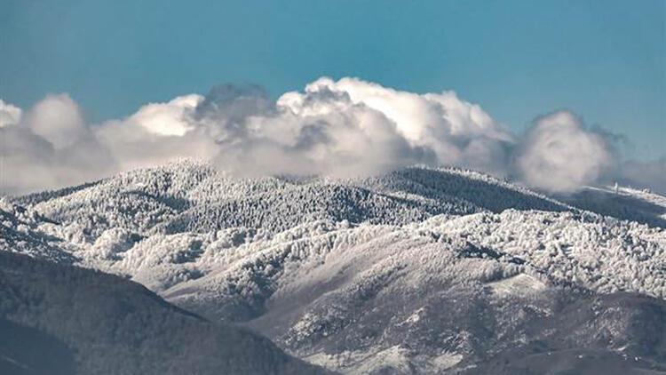 Kar sonrası muhteşem manzara ortaya çıktı