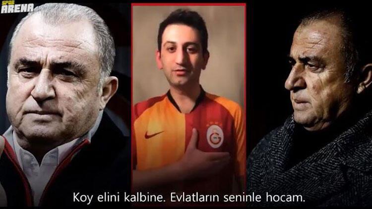 Galatasaraylı taraftarlardan Fatih Terim'e duygusal mesaj!