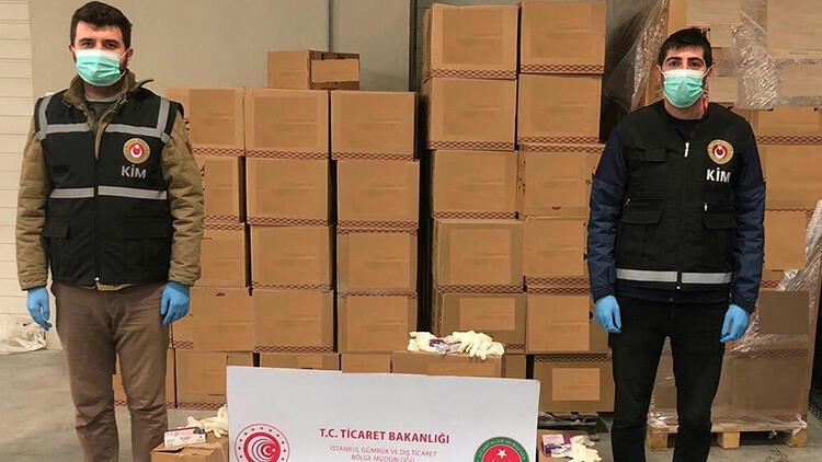 Yurt dışına çıkarılmak istenen 86 bin tıbbi eldiven ele geçirildi