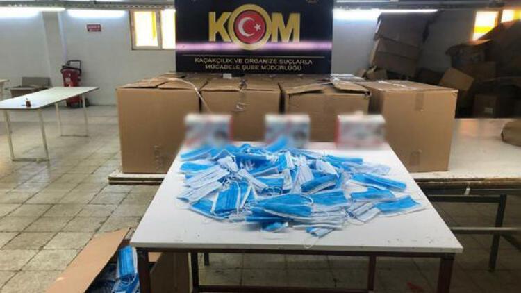 Adıyaman'da kaçak üretilen 24 bin maske ele geçirildi