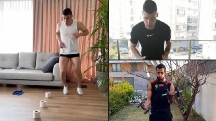 Yeni Malatyaspor'da antrenmanlar evde devam ediyor! Corona virüs arası...