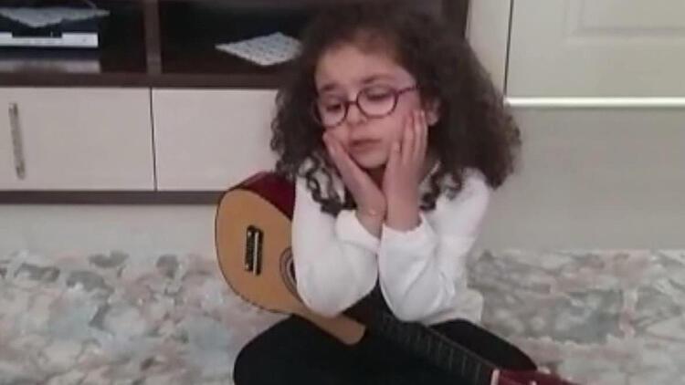 Konyalı minik Elmira'dan şarkı söyleyerek 'Evde kalın' çağrısı