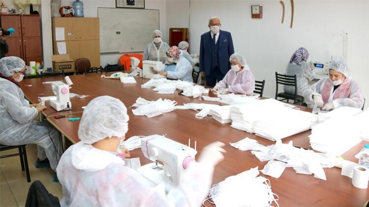Ereğli Belediyesi maske üretiyor! 'Ereğli'de maskesiz kimse kalmayacak'