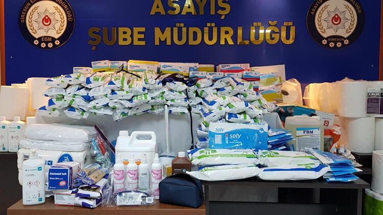 Giresun'da hastaneden sarf malzeme çaldıkları iddia edilen 2 hasta bakıcı tutuklandı