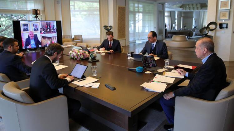 Son dakika haberler... Cumhurbaşkanı Erdoğan, kabine üyeleriyle görüştü