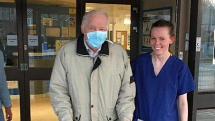 87 yaşındaki İngiliz, Kovid-19'a karşı verdiği mücadeleyi kazandı