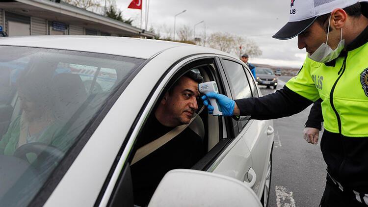 Ankara girişinde, ateş ölçerli 'koronavirüs' tedbiri
