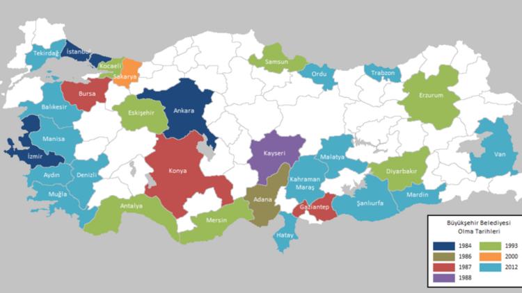 Hangi iller büyükşehir? Büyükşehir belediye listesi