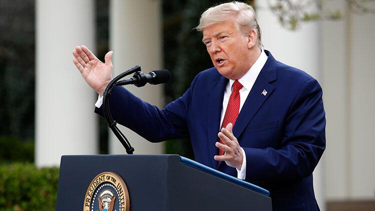 Trump, Kovid-19 önlemlerinin süresini 30 Nisan'a kadar uzattıklarını açıkladı