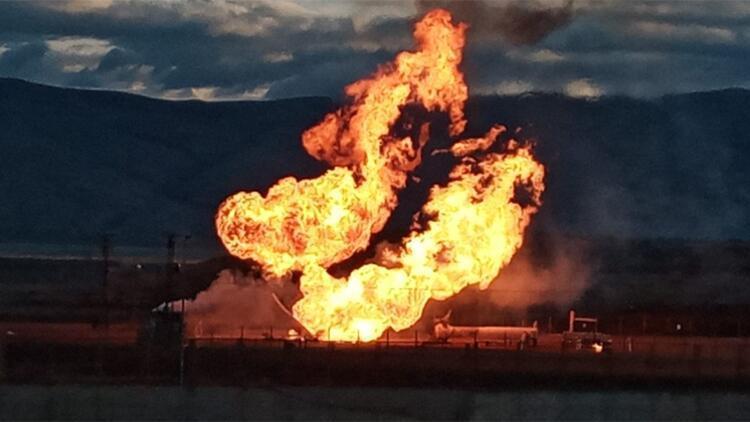Gürbulak Sınır Kapısı'nda doğal gaz boru hattında patlama