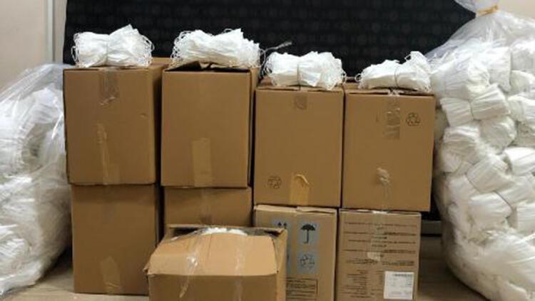 Bursa'da kaçak üretilen 20 bin maske ele geçirildi