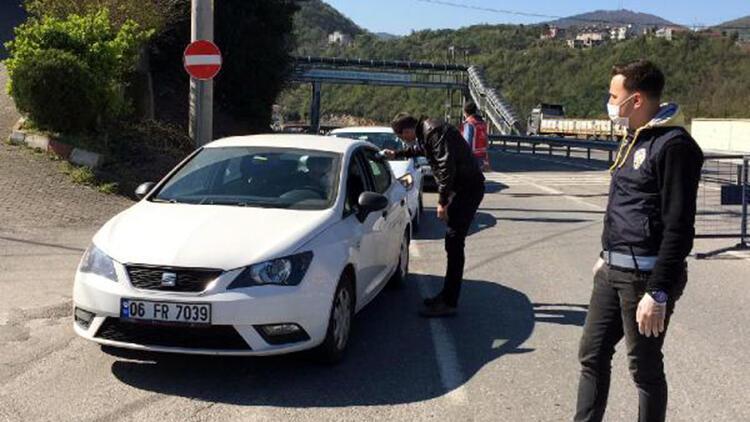 Zonguldak'ta il ve ilçe sınırlarında denetimler sürüyor