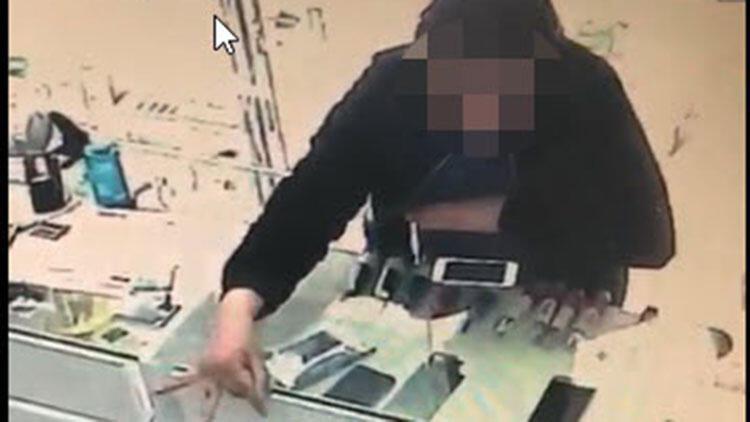 16 yaşındaki gencin hırsızlık anı güvenlik kamerasında
