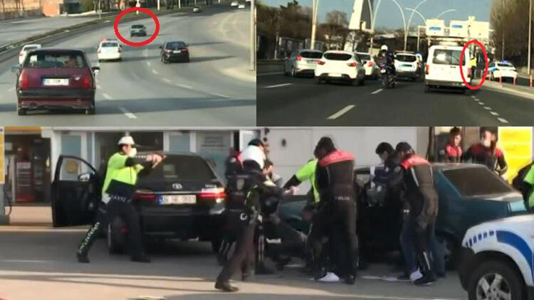 Yasağı ihlal eden ehliyetsiz sürücü ve arkadaşı kovalamacayla yakalandı