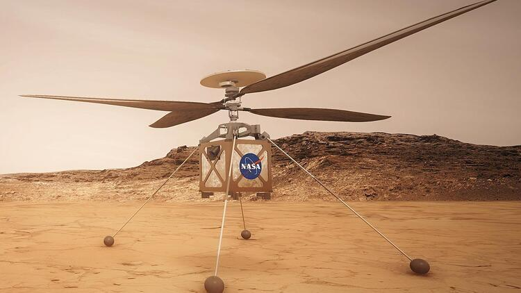 NASA-nın helikopteri Marsda göründü
