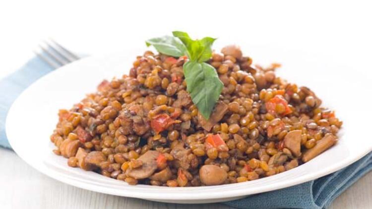 Dünyanın en mükemmel diyeti ve mantarlı mercimek yemeği